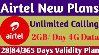 #Airtel Prepaid Recharge Plans & Offers List 2019 | Airtel New Plans Unlimited Calling & 4G Data