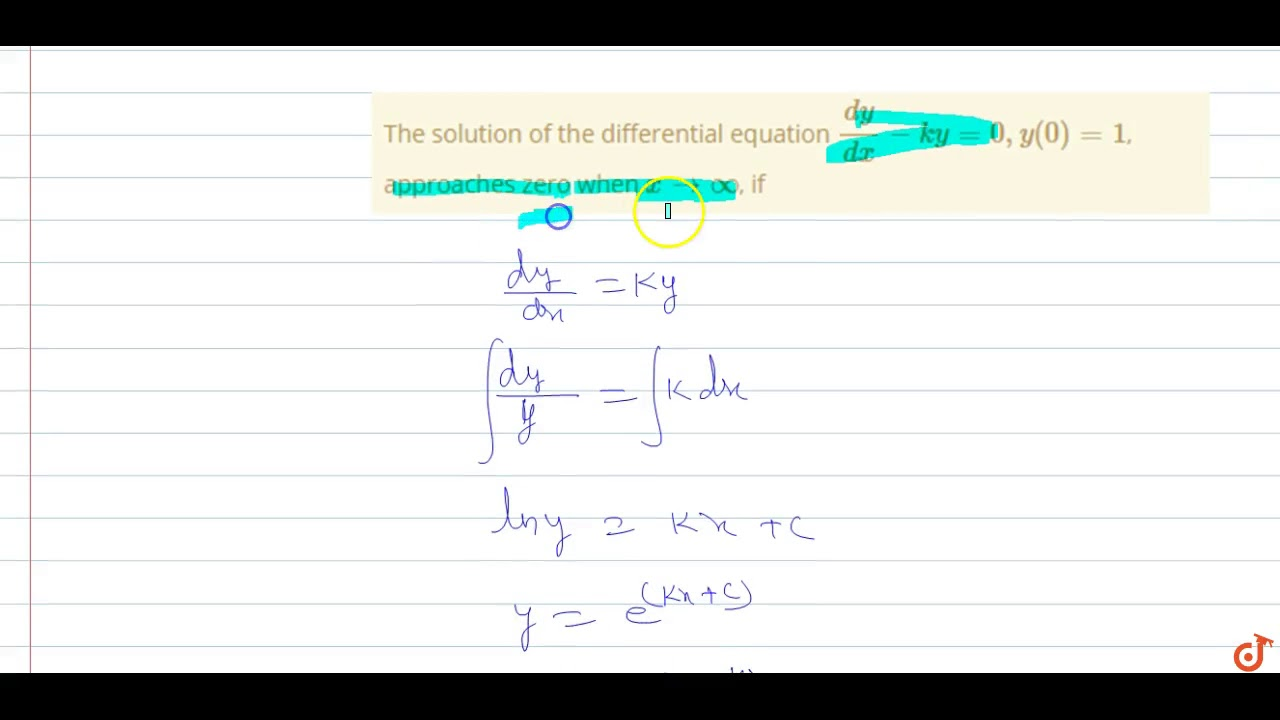 The Solution Of The Differential Equation Dy Dx Ky 0 Y 0 1 Approaches Zero When X Gt Oo If Youtube Answer to use the arc length formula to find the length of the curve y = 2 − x2 , 0 ≤ x ≤ 1. the solution of the differential equation dy dx ky 0 y 0 1 approaches zero when x gt oo if