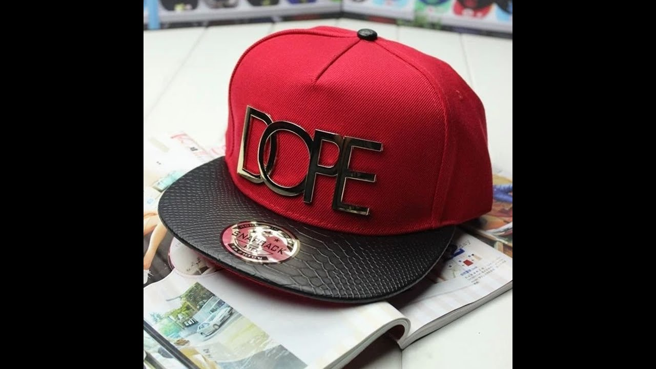 Unboxing AliExpress  1 - Snapback DOPE - YouTube 565f9c34ee4
