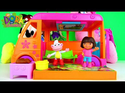 DORA THE EXPLORER Vamonos Vacation Van Playset Fisher Price Toy Review Family Video