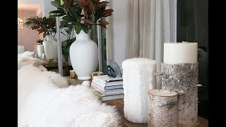 How to Style Console Table Behind Couch