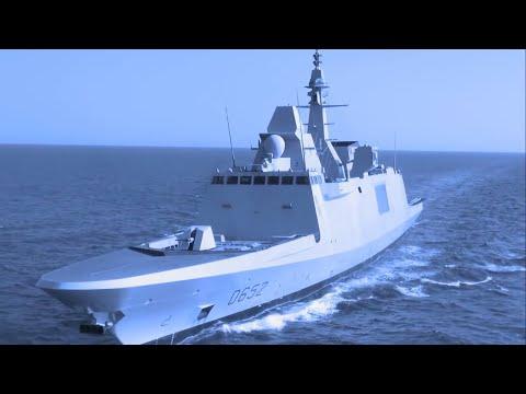French Navy - FS Provence (D652) FREMM Frigate [1080p]