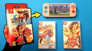 He Comprado Los 2 😐 Unboxing Pokémon Espada Y Escudo Para Nintendo Switch Y Switch Lite  Gameplay