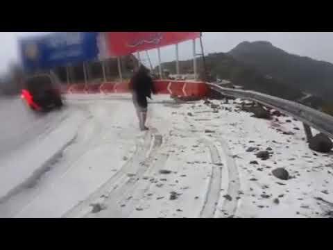 9 درجات تحت الصفر حالة الطقس في اليمن طريق سماره محافظة إب Youtube