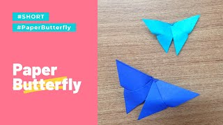 Origami Paper Butterfly making - Very Easy #Shorts