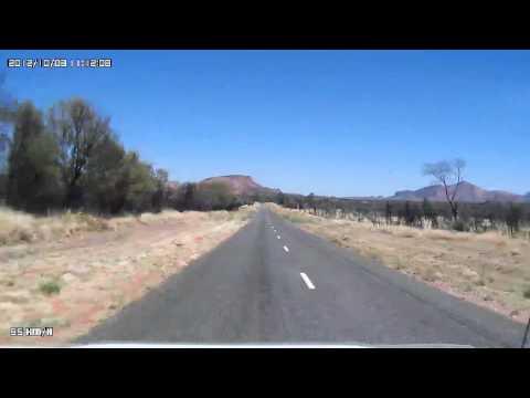 Video 281-Larapinta Drive - Simpsons Gap to Standley Chasm w/Photos