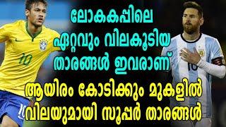 Fifa World Cup 2018  : ലോകകപ്പിലെ ഏറ്റവും വിലകൂടിയ താരങ്ങൾ | OneIndia Malayalam