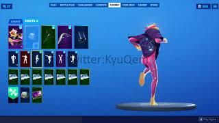 Fortnite *NEW* *LEAKED* Slumber skin showcased with Emotes