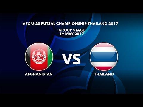 M36 AFGHANISTAN vs THAILAND - AFC U-20 Futsal Championship Thailand 2017