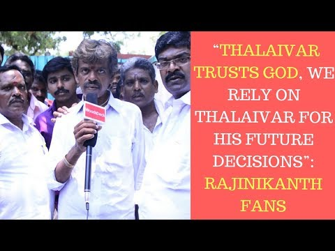 """""""Thalaivar trusts God, We rely on Thalaivar for his future decisions"""": Rajinikanth Fans"""