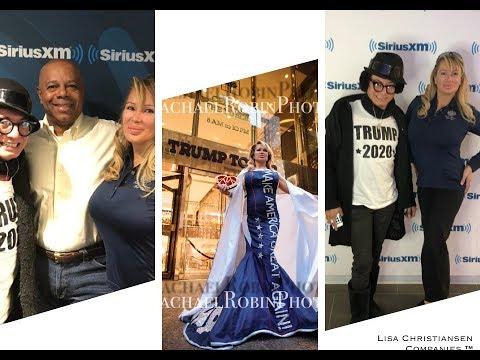 SIRIUS XM Radio with Andre Soriano and MAGA Spokesmodel Lisa Christiansen
