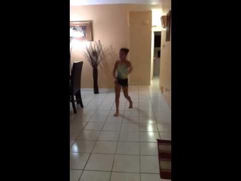 Gymnastics before going to a dance studio