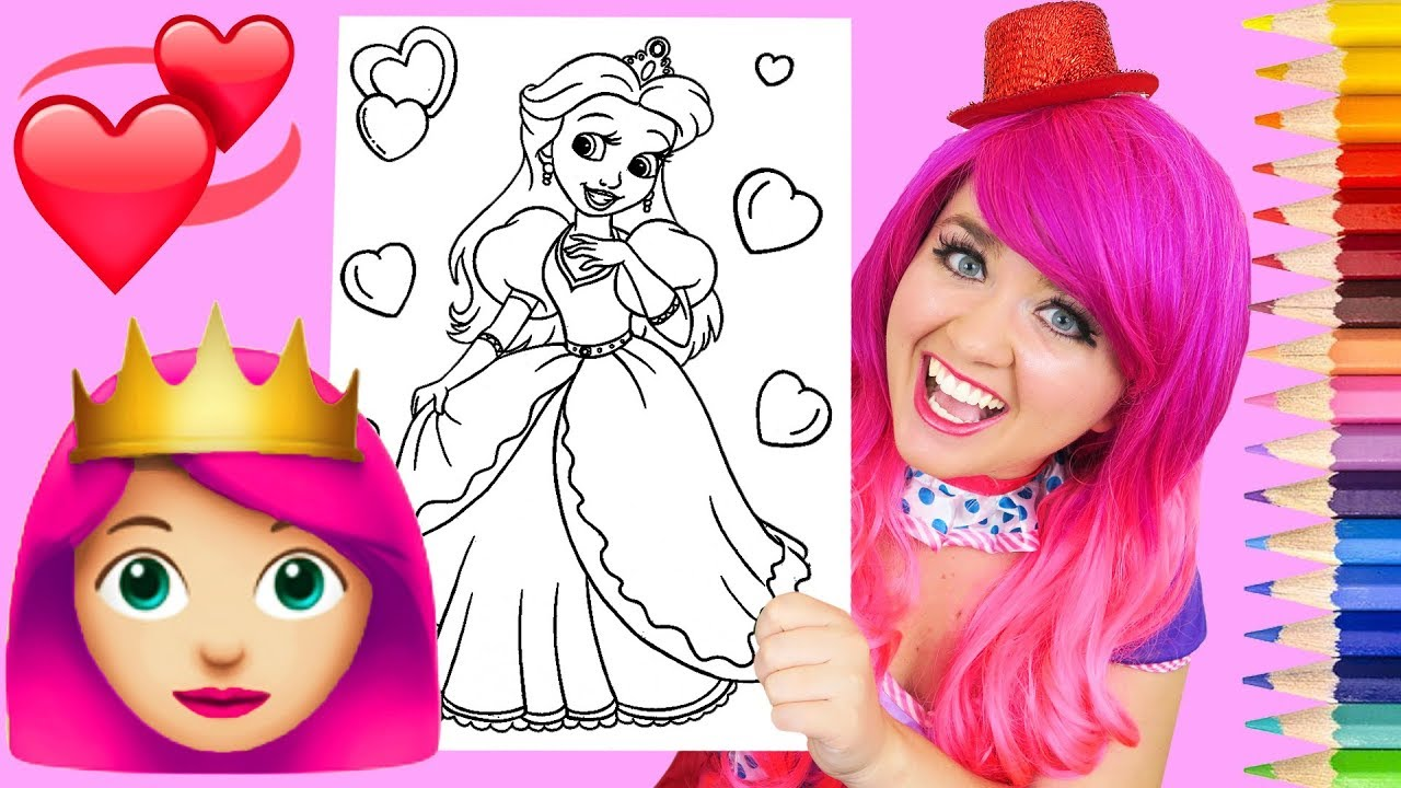 Coloring A Princess Pretty Pink Coloring Book Page Prismacolor ...