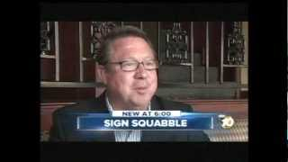 CAMPAIGN SIGNS DISAPPEARANCE DEBATE -- KGTV-TV San Diego 10News 9-27-12 6 p.m.