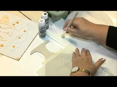 How to Stencil on Wood, MDF & Canvas