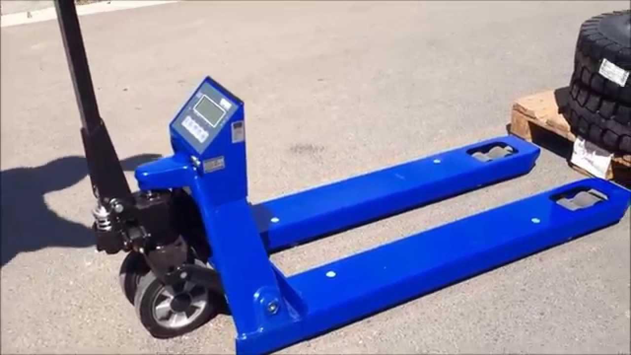 Zupełnie nowe Ręczny wózek paletowy z wagą, paleciak z wagą KPZ 71-9. Dokładne HS71