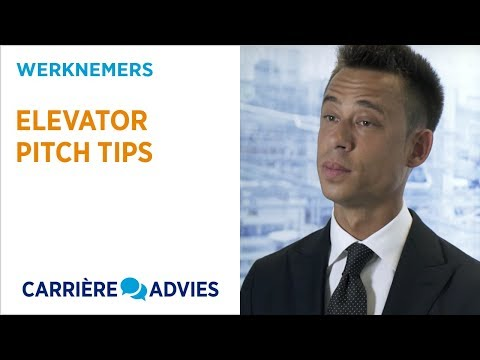 Elevator pitch tips - carriere advies - HAYS