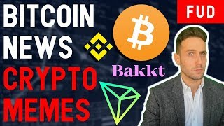 BITCOIN PUMPS...to $4K! CRYPTO MEMES WILL SAVE US!! TRON TRX Binance BNB XRP Bakkt