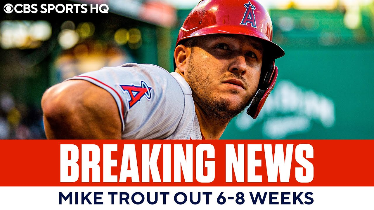 Mike Trout Will Miss Six to Eight Weeks With Strained Calf
