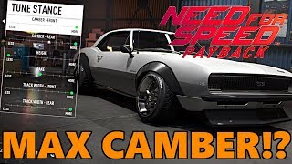 NEED FOR SPEED PAYBACK | What Happens When you go MAX CAMBER!? CAMARO CUSTOMIZATION GAMEPLAY