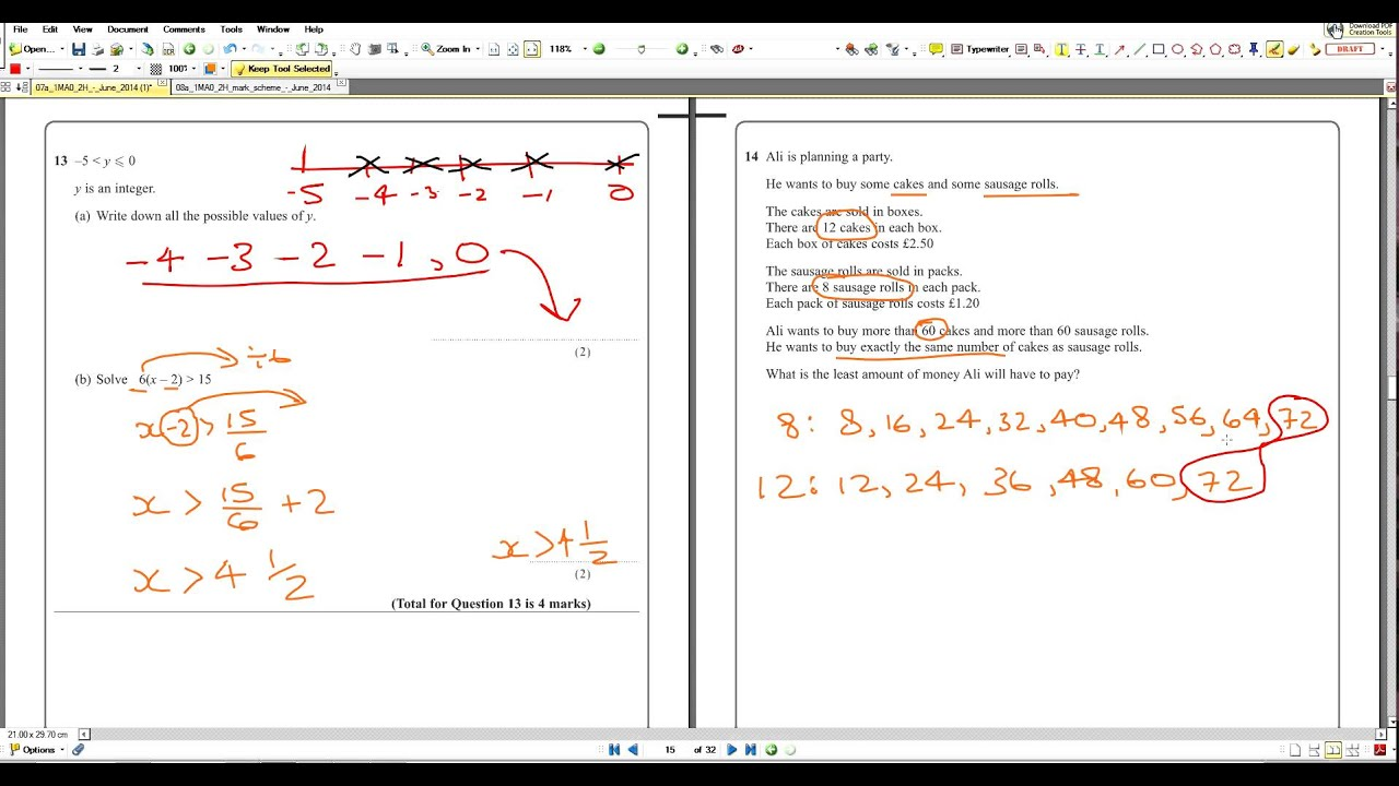1mao2h array q14 2014 maths a paper2 edexcel 1mao 2h model answers youtube rh youtube com fandeluxe Choice Image