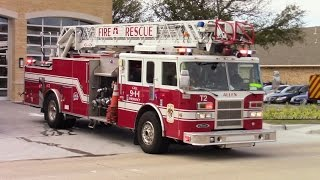 Allen Fire & Rescue Truck 2 & Medic 2 Responding
