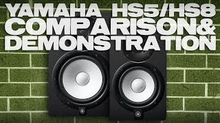 Yamaha HS5-HS8 Comparison and Demonstration