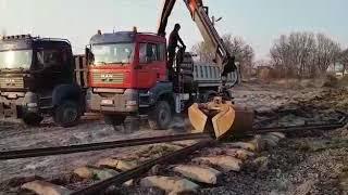 Man TGA 33.480 6x6 hds Palfinger 15002 ładowanie podkładów kolejowych #16