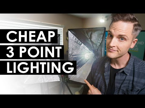 cheap-three-point-lighting-setup-(best-budget-video-lighting)
