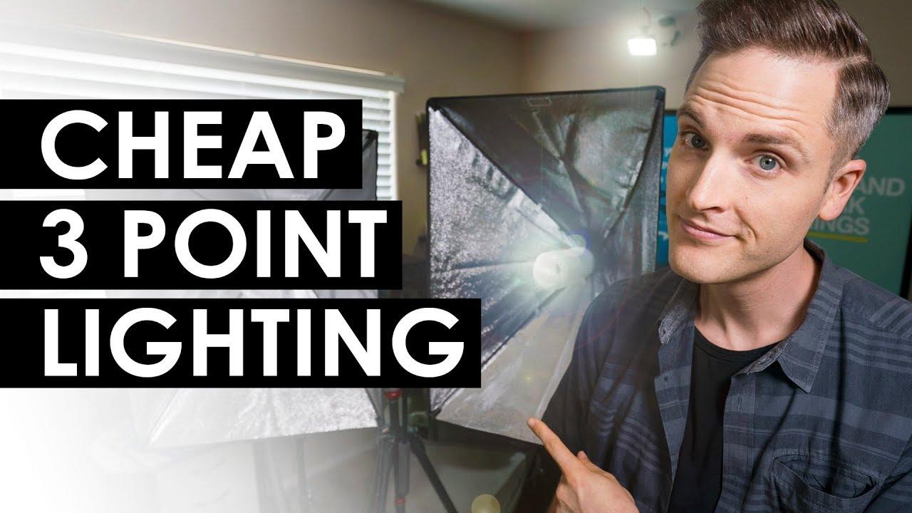 three point video lighting key fill