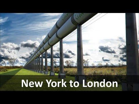 Vision 2100: Transatlantic Vacuum Hyperloop Tunnel