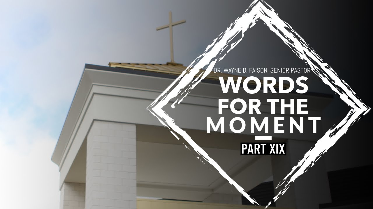 WORDS FOR THE MOMENT-PART XIX