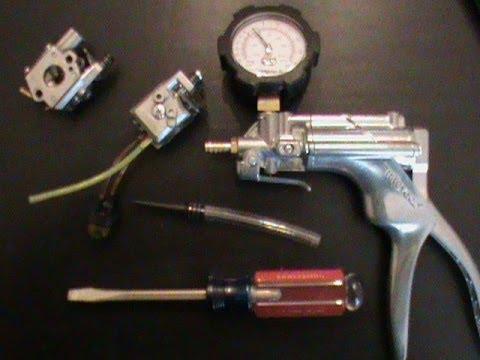 Mityvac mitmv8500 Pressure testing a carburetor