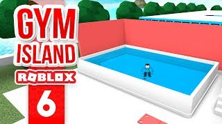 CONSTRUINDO uma piscina-Roblox Gym Island #6