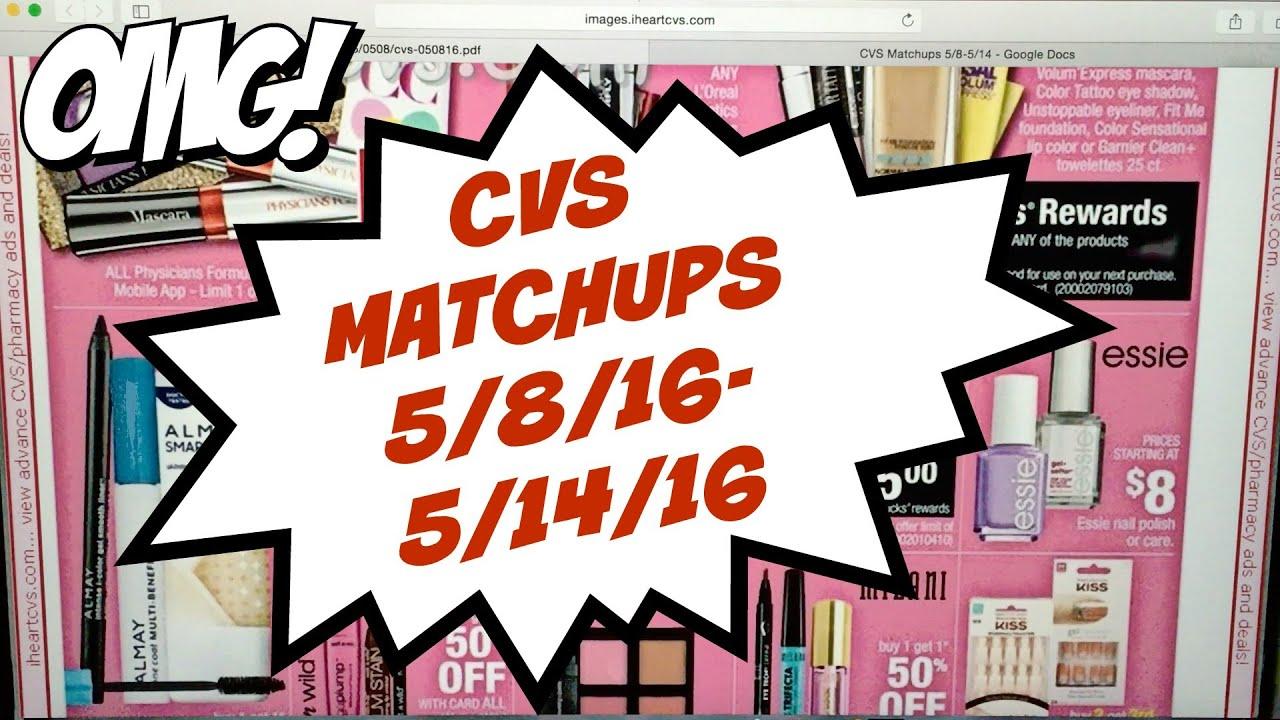 CVS Matchups 5/8/16-5/14/16 - YouTube