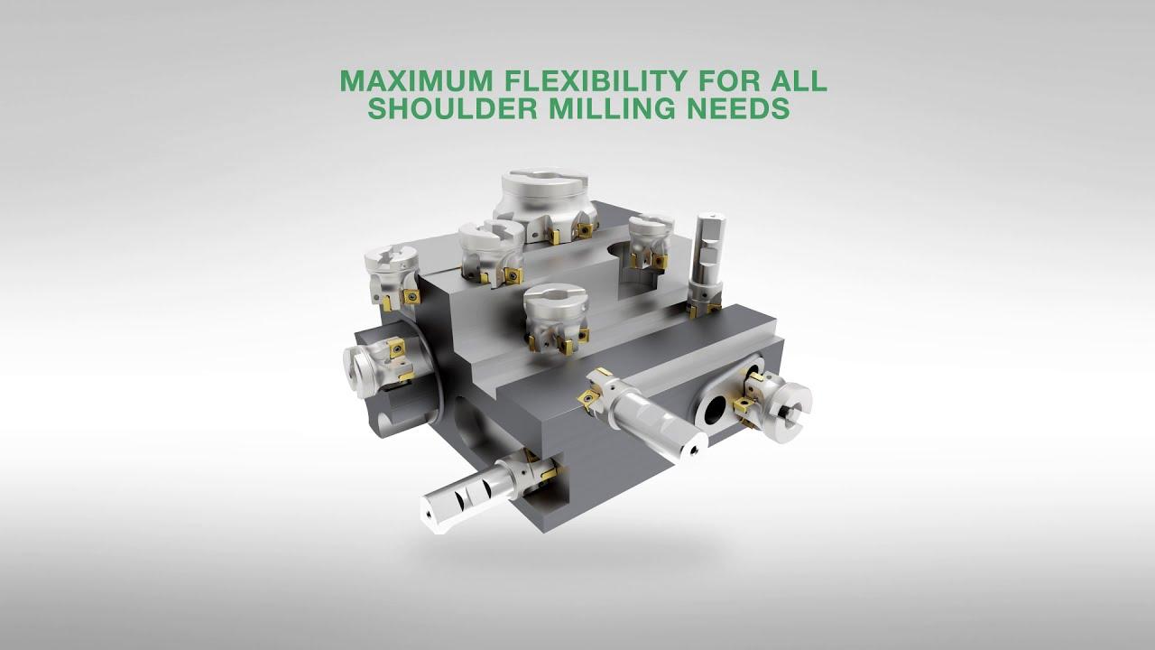 AlTiN Coating Carbide WIDIA Hanita 70N612005MT X-Feed 70N6 HP Hard Material End Mill RH Cut 12 mm Cutting Diameter 6-Flute Straight Shank