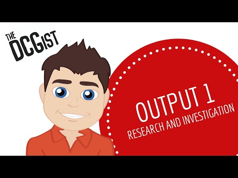 DCG Student Assignment - Output 1 Research