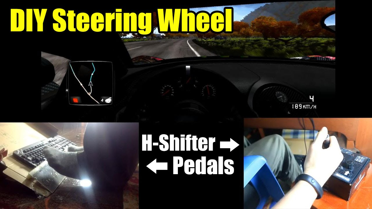 Diy Steering Wheel H Shifter 6 R Pedals With Clutch