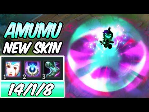S+ CLEAN NEW AMAZING AMUMU SKIN & ITEMS 3x% HP BURN   Pumpkin Prince Amumu Jungle -League of Legends
