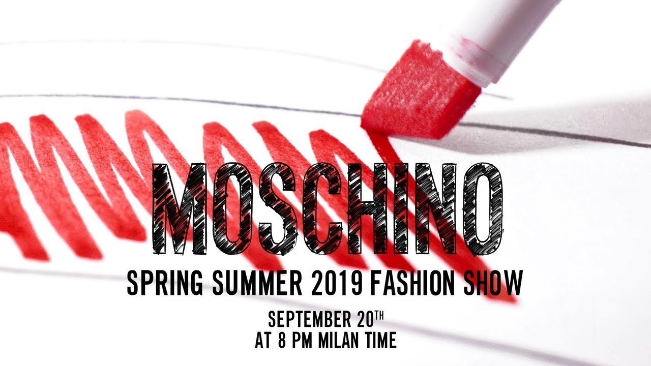 Start sketching! Discover Moschino Spring Summer '19 fashion show