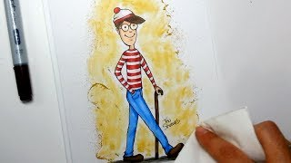 Drawing Wally or Waldo - Copic markers speed paint