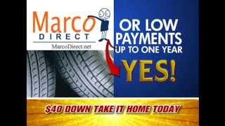 Only $40 Down for Brand New Wheels and Tires-- Marco Direct