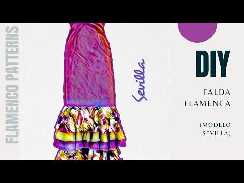 Falda Sevilla. Como hacer una falda de flamenco por pasos/How to make a flamenco skirt step by step