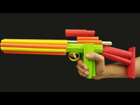 How to Make a Paper Gun that Shoots (Jason DIY Projects Shotgun)