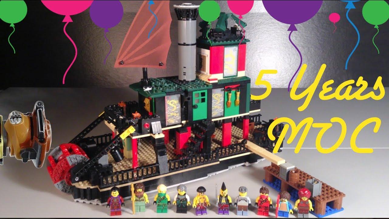 Lego Ninjago Chen's Steamboat MOC 5 Year Anniversary - YouTube