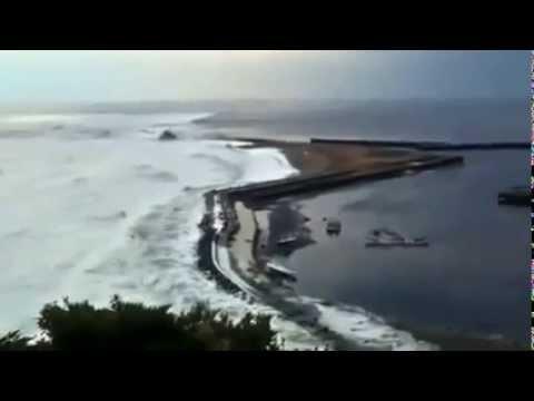Tsunami in Asahi, Chiba prefecture, Japan