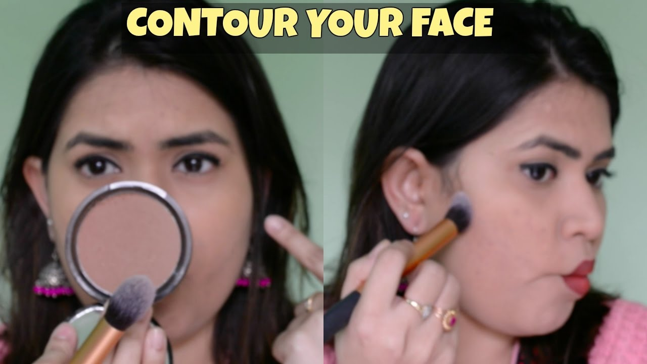How To Contour Indian Round Face For Beginners Step By Step Tutorial In  Hindi How To