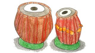 How to draw Tabla step by step very easy (Drawing)
