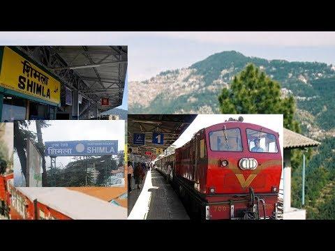 Shimla railway station. UNESCO World Heritage Site Kalka–Shimla Railway.