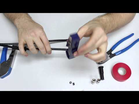 How to terminate RG6 quad shield coax cable.